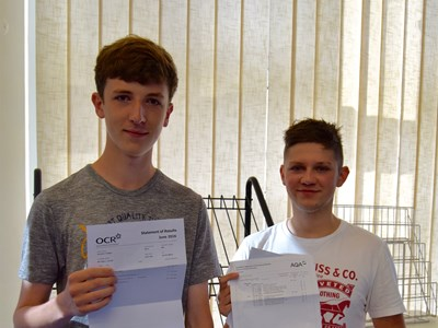 Grantham College students celebrate their A Level results