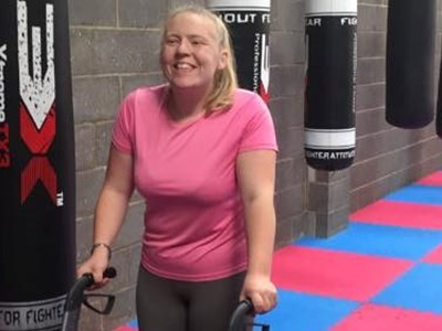 Wheelchair user walks again thanks to Grantham trainer