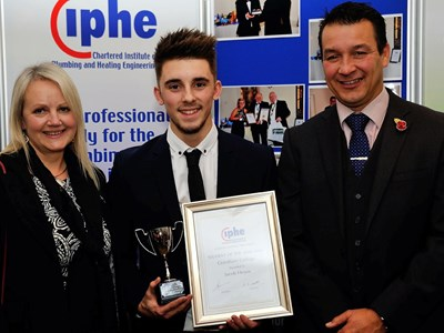 Grantham College Student Jacob Hoyes selected as the CIPHE Student of the Year for Grantham