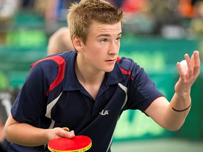 Grantham College Table Tennis Academy student Matthew Leete selected to represent England