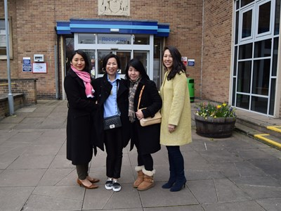 Four ex-students visit Grantham College after 20+ years