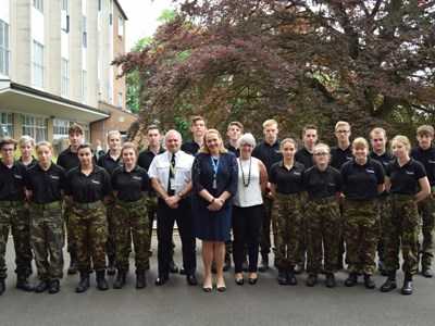 Assistant Chief of the Lincolnshire Police department visits Grantham College to inspire students