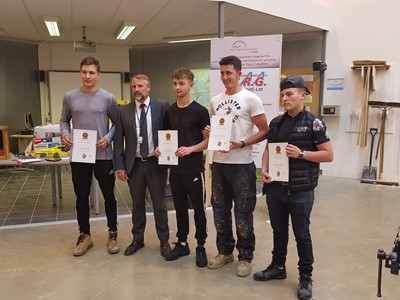 Grantham College Carpentry students succeed at The Institute of Carpenters 41st Merlane Trophy Competition.