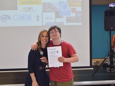 Grantham College's Learning Development Centre hosts awards ceremony for local employers