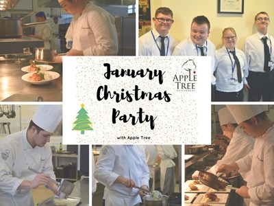 Make Christmas last longer with a January Party at Apple Tree Restaurant, Grantham College.