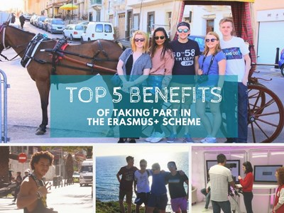 Top 5 benefits of taking part in the Erasmus+ scheme