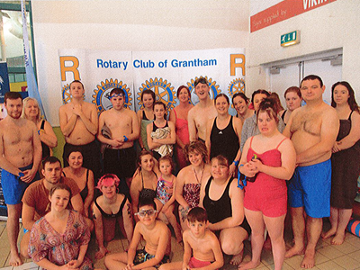 Grantham College staff and students participate in the annual Rotary Swimarathon and help raise £30,000
