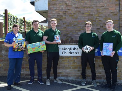 Engineering students provide toys for children's ward