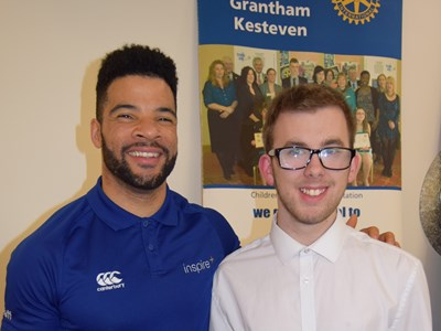 Grantham College student presented with Children of Courage award