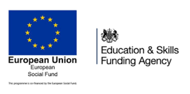 European Social Fund logo and Education & Skills Funding Agency logo