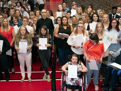Celebrations all round at Grantham College for deserving award winners