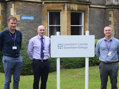 Ex-Forces trio expand their skills at Grantham College