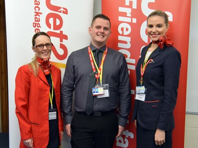 Our Travel & Tourism students are inspired to fly high by Jet2 visitors