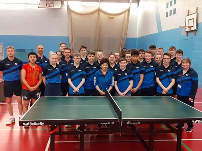World's Greatest Table Tennis player visits Grantham College